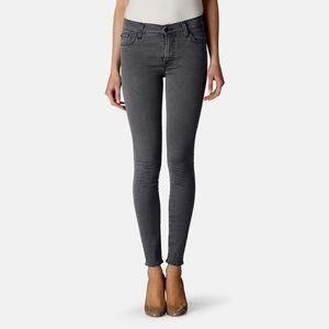 7 For All Mankind The Ankle Skinny Grey Pants